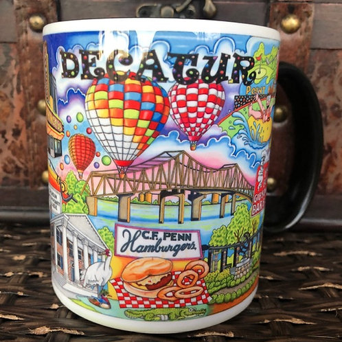 The Who, What & Where of Decatur, Alabama 11 oz. coffee mug