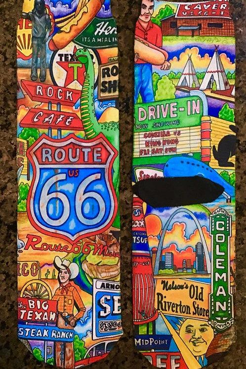Route 66 Crazy Socks