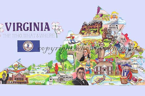 "Virginia 10""x18"""