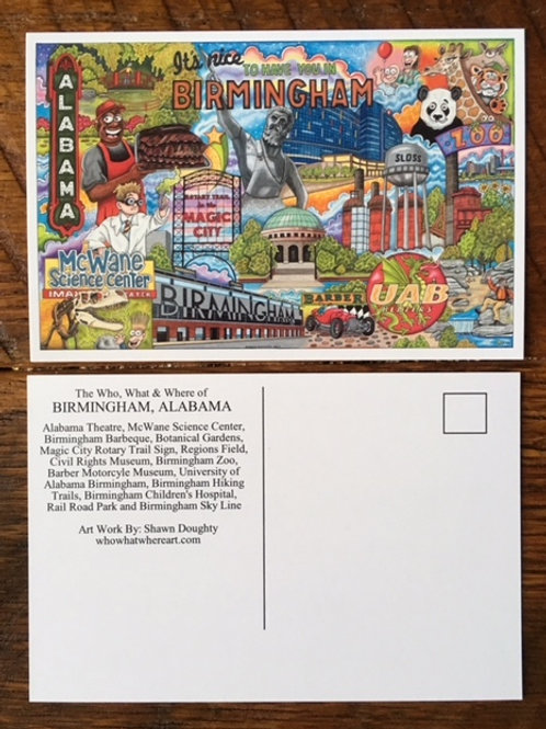 Birmingham, Alabama Postcards (10pk)