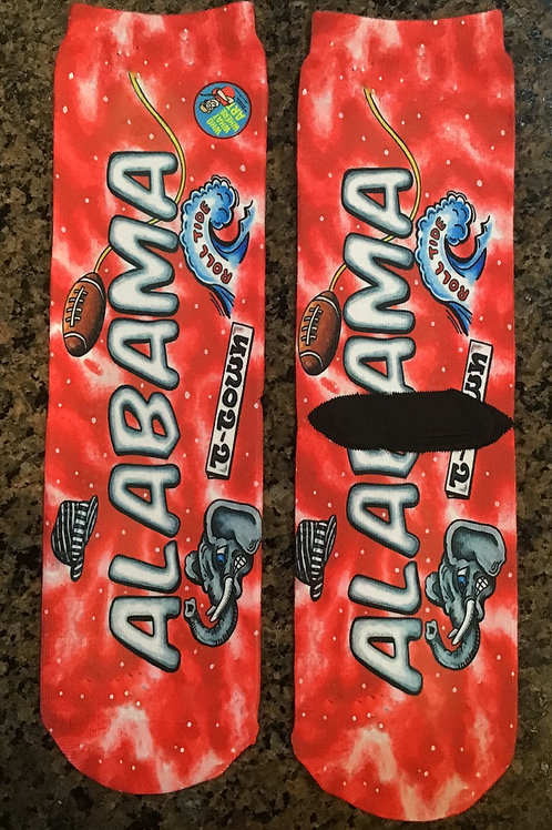 "Alabama ""Roll Tide"" Crazy Socks"