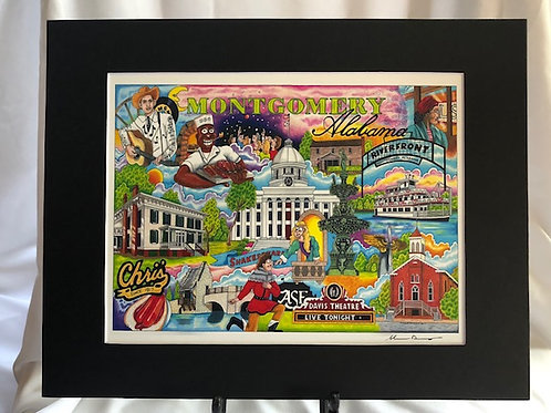 The Who, What and Where of Montgomery, AL 11 x 14 signed matted print