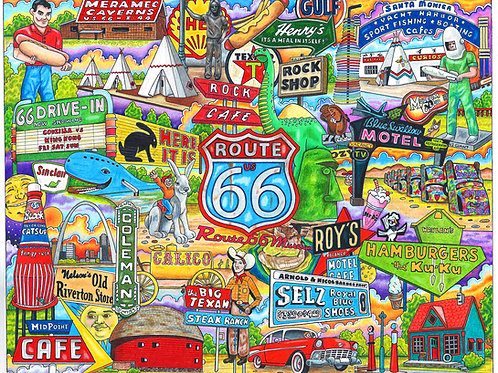 Route 66 postcards pack of 10