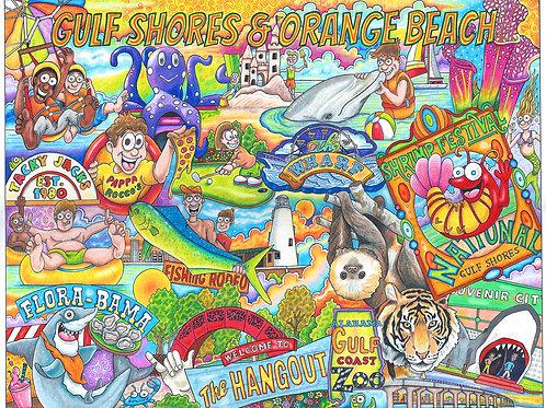 Gulf Shores/Orange Beach 12 x 16 print