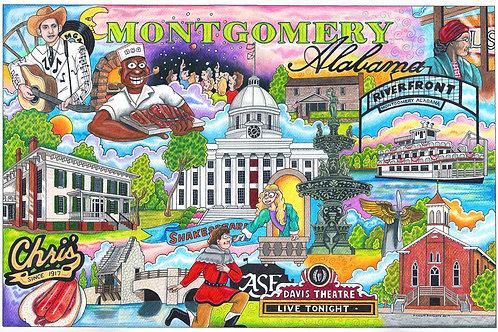 """Montgomery, Alabama """"12 x 16"""""""