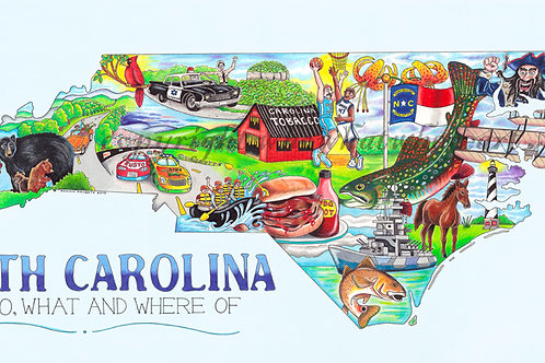 "North Carolina 10""x18"""