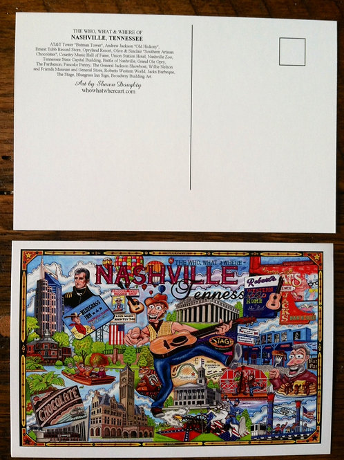 Nashville, Tennessee Postcards (Pack of 10)
