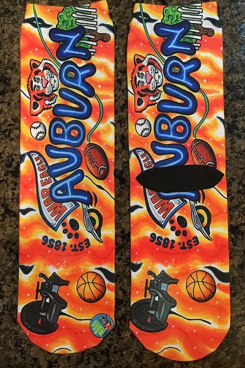 Auburn Crazy Socks