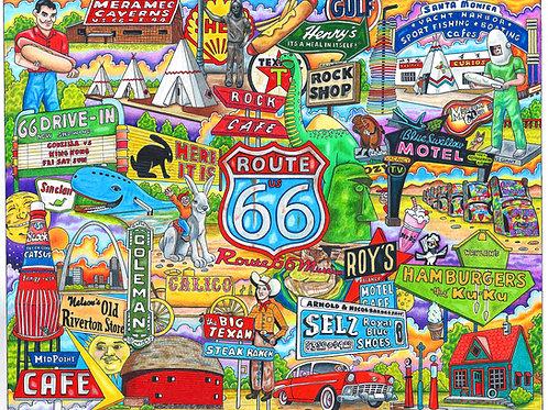 "Route 66    12"" x 16"" print"