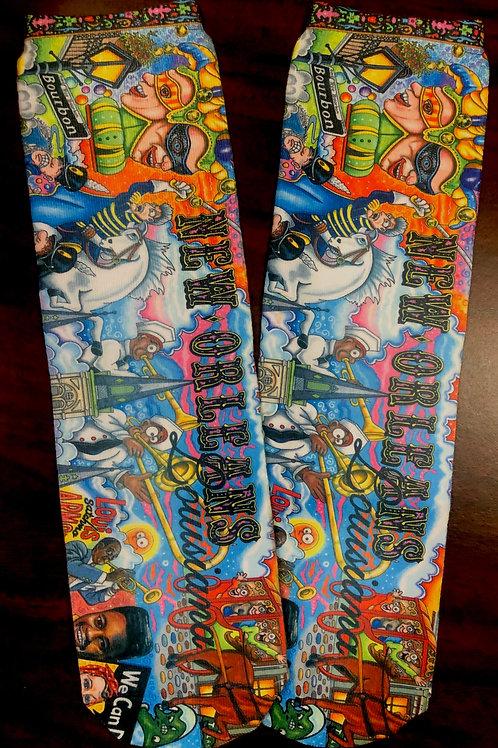 New Orleans Crazy Socks