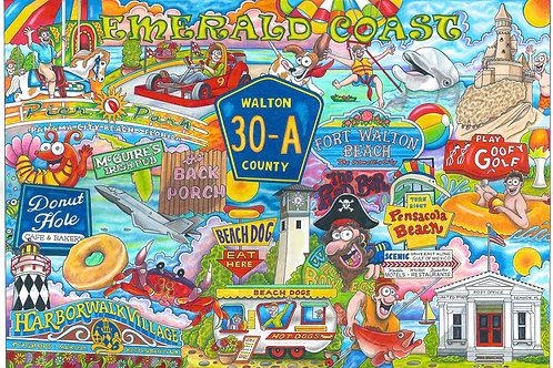 "Emerald Coast Florida / 30A ""12x 16"""