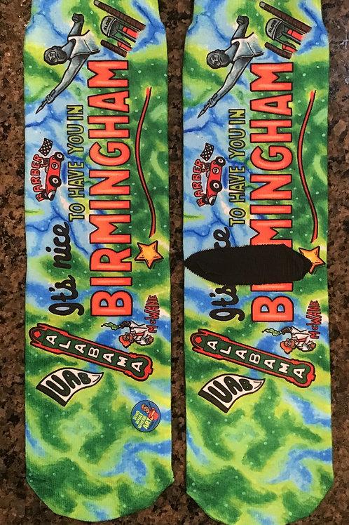 Birmingham,  Alabama Crazy Socks