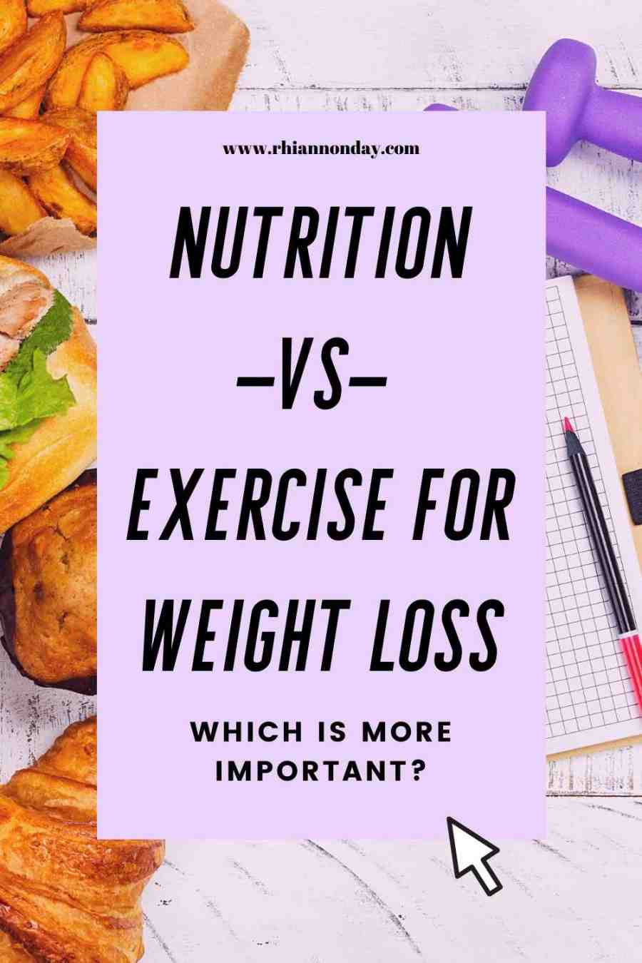 When it comes to losing weight, which is more important to your results – nutrition or exercise?  Find out which one is most important to get right for your results. #nutrition #exercise #fitness #exercisemyths #fitnessmyths