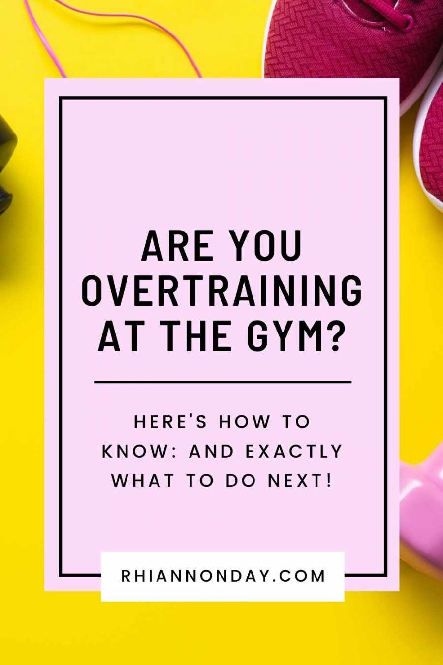 Is your training doing your more harm than good?  Here's how to know if you're overtraining your way to exercise burnout, and exactly what to do next so you can stay on your game. #fitness #training #workout #weightloss #weightlossjourney