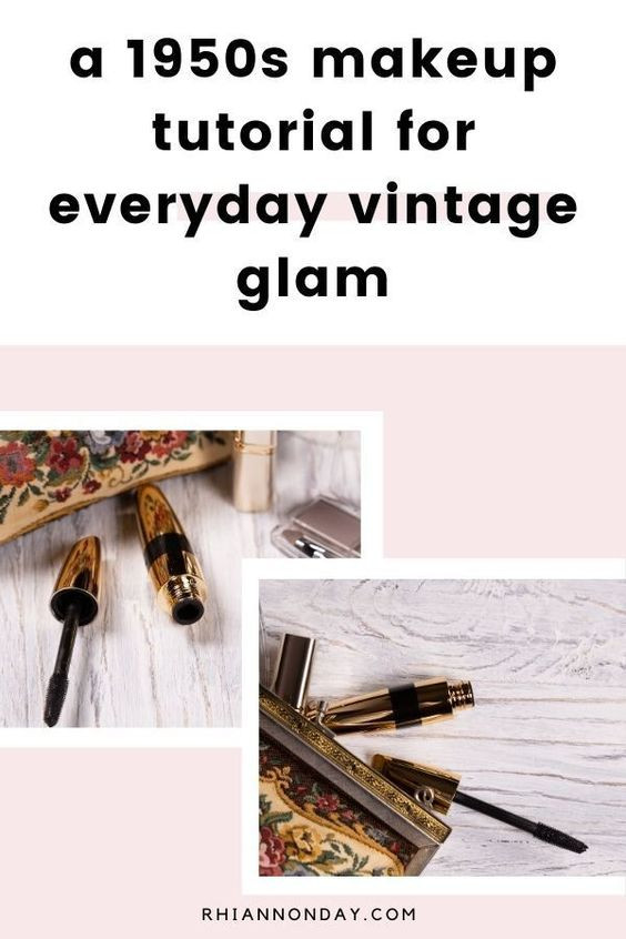 Obsessed with vintage Hollywood glamour? Create a simple, wearable, and glamorous everyday makeup look using these actual vintage makeup tutorials as your guide. I couldn't believe the transformation! #vintagemakeup #1950smakeup #vintagemakeuptutorial