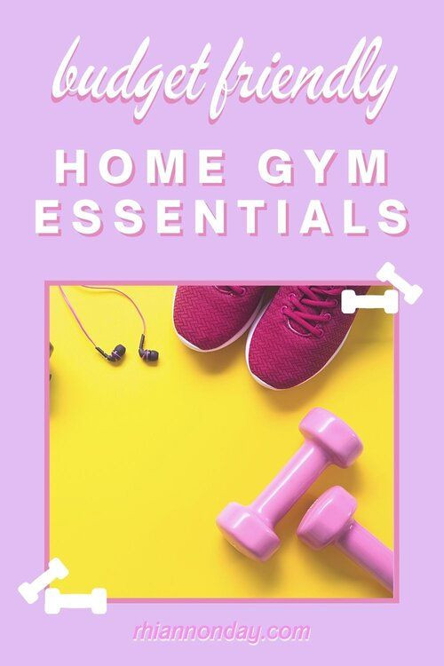 Want to get fit without a gym in the comfort of your own home? Let's face it: gym memberships are costly, and getting there means leaving the house. Working out from home can save you a tonne of cash and time, and is much easier to follow through with. Even better, you don't need a lot of space or money to build an effective home gym. Here are my top fitness essentials for building a home gym on a budget. Home gym | home gym essentials | home gym tips | workout at home #fitness #homeworkout