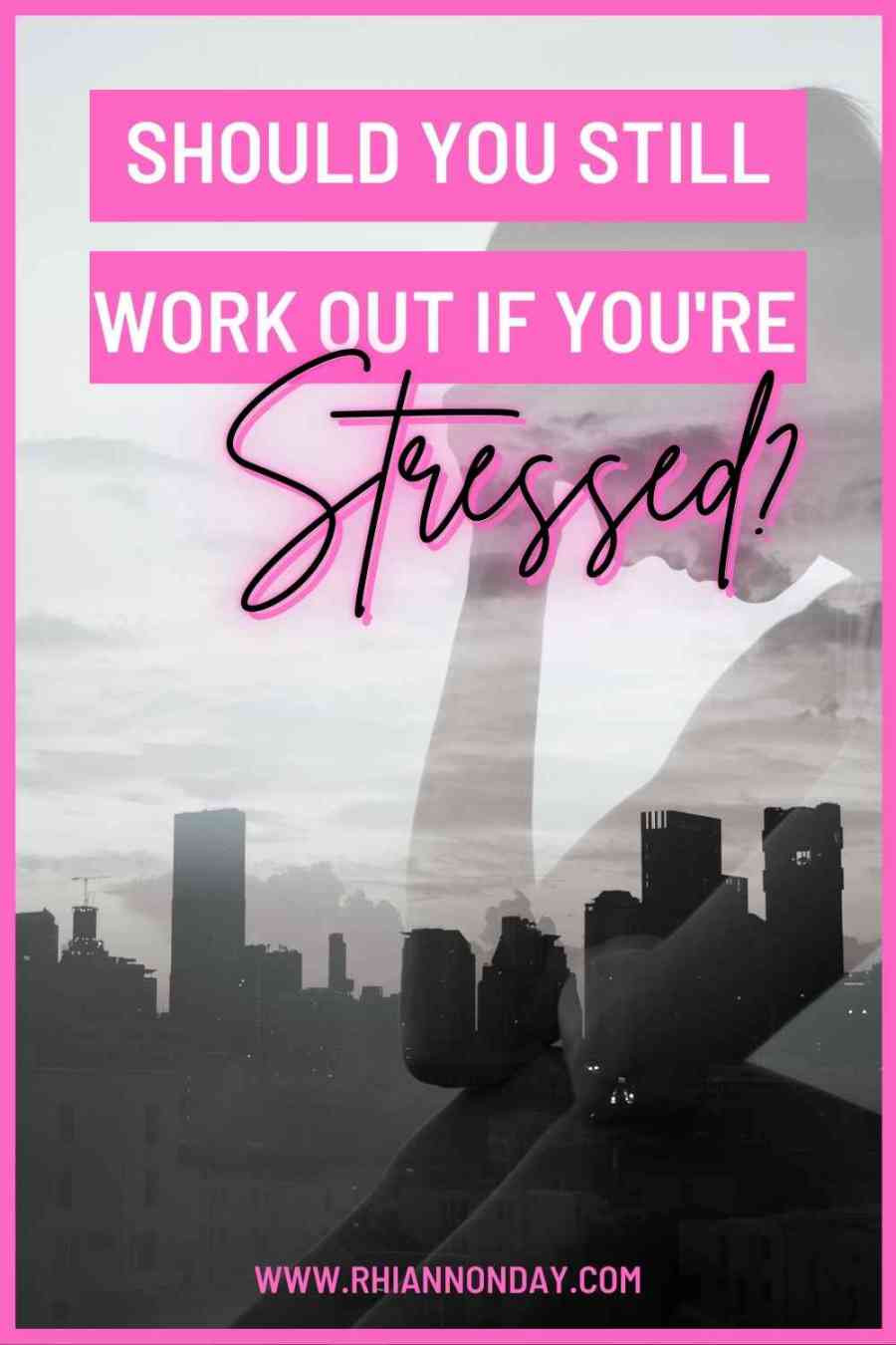 Stressed out and wondering if you should still hit the gym?  The answer may surprise you ... #fitnesstips #healthandfitness #fitnessjourney