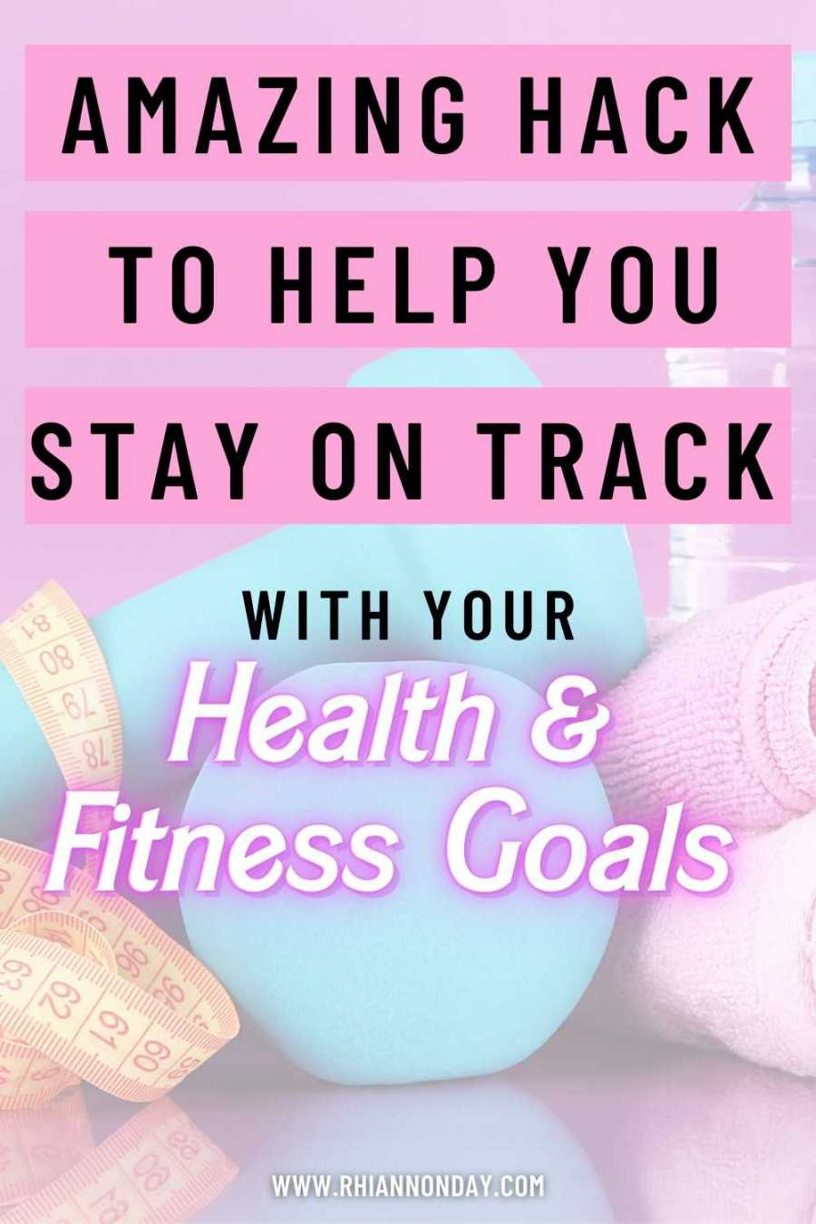 Does staying on track with your fitness goals and balancing your life feel tricky?  Try this simple hack - a guideline to live by that takes the guilt and guesswork out of staying on track. #weightloss #fitness #womensfitness #weightlossjourney #fitspo