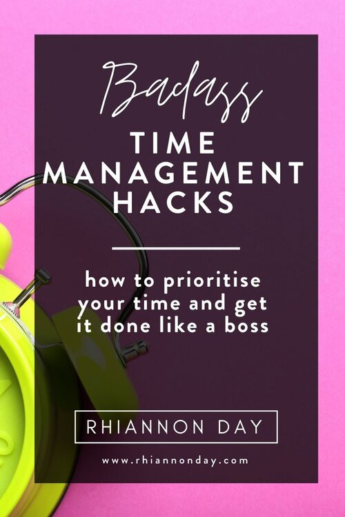 If you've ever struggled with time management and prioritizing you know how frustrating it can be to struggle with a to do list and getting things done, especially if you are a new entrepreneur. These time management hacks are guaranteed to make it easier to manage your time effectively and get things done! I wish I'd known about them years ago. #timemanagement #prioritization #planning #planyourday #getorganized