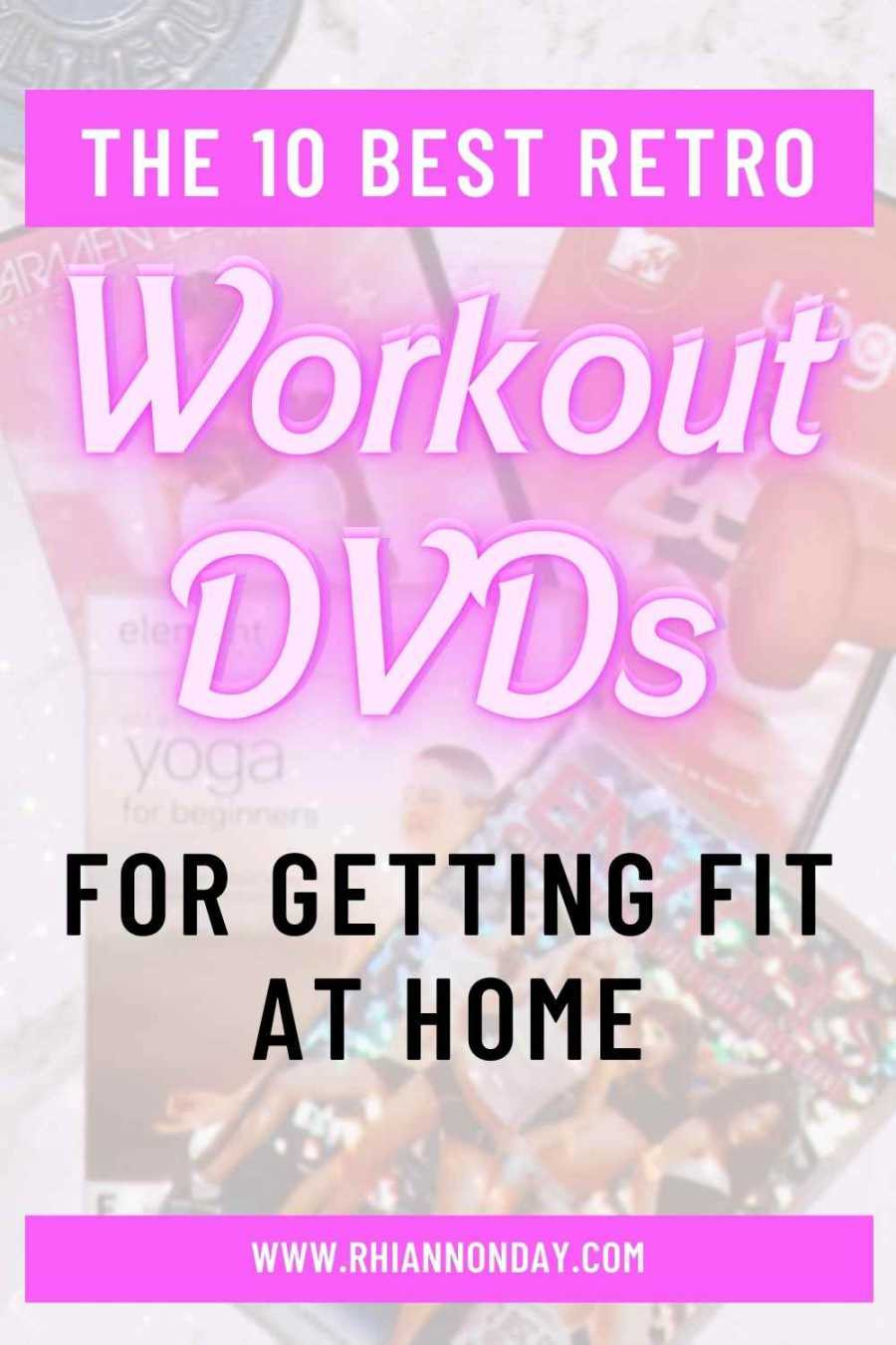 Can't get to a gym?  Let's get fit the old fashioned way: with some amazing retro fitness DVDs I personally guarantee will help you lose weight, get fit and get stronger all from the privacy of your own home. #retroworkout #janefonda #taebo #fitness #fitnessdvd #weightloss #loseweight #womensfitness
