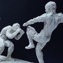 """D'après """"Boxe Boxe"""" de Mourad Merzouki,détail, terre"""