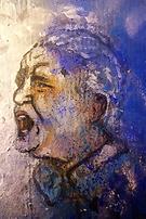 """D'après """"Des hommes en devenir"""" d'Emmanuel Merieu, peinture"""