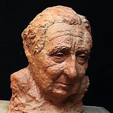 Charles Tolot, portrait, terre cuite