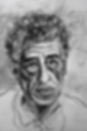 Alberto Giacometti, fusain
