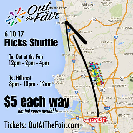 Flicks San Diego Shuttle Out at the Fair