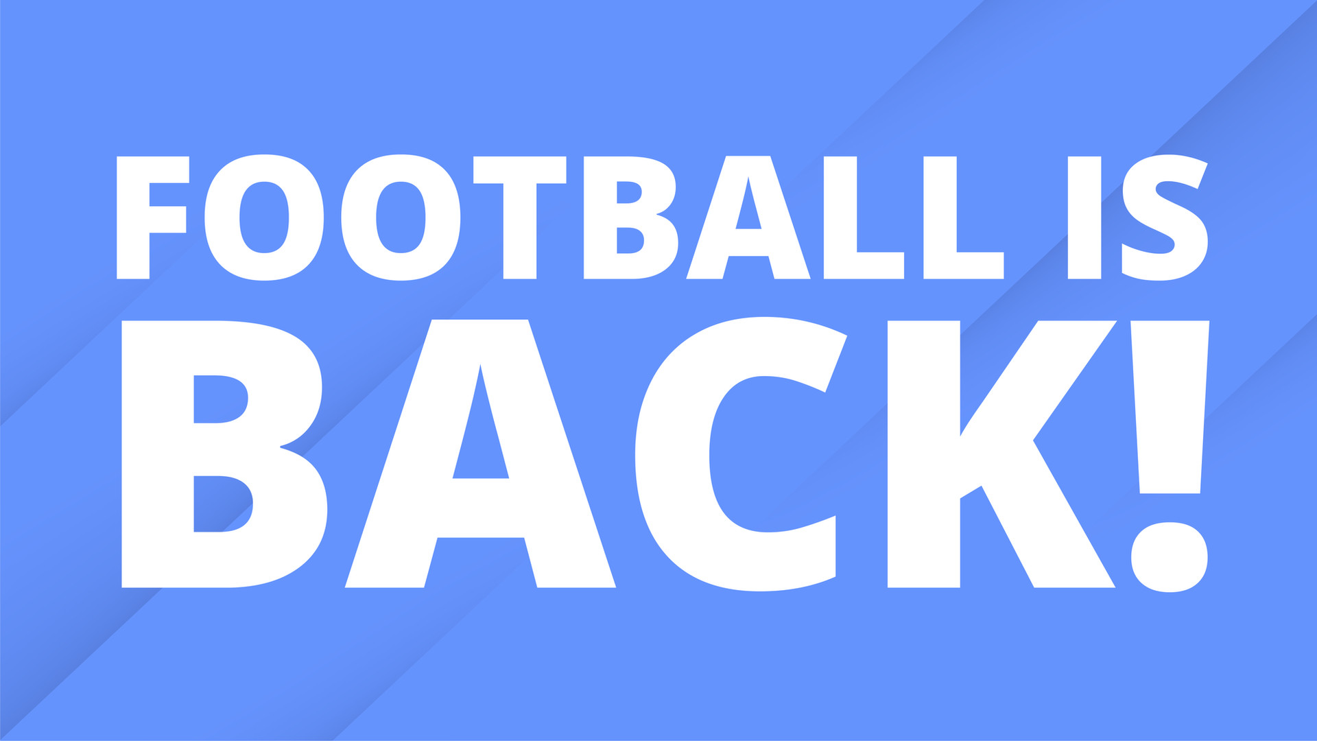 Back to football!