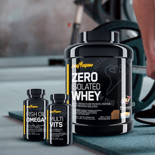 PACK - ZERO ISOLATED WHEY 4,4Lb + MULTI VITS + FISH OIL OMEGA3