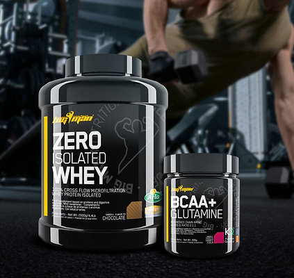 PACK - ZERO ISOLATED WHEY 4,4Lb + BCAA+GLUTAMINE 300G