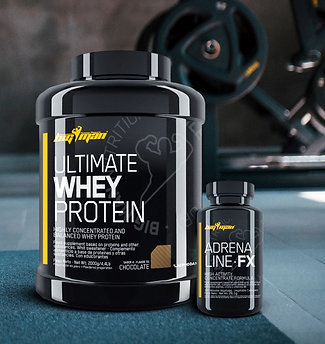 PACK - ULTIMATE WHEY PROTEIN 4,4Lb + ADRENALINE·FX 30 Cáp.
