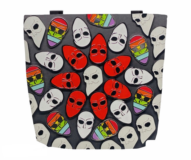 SNM Mask Pin Collage Tote