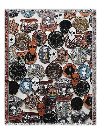 SNM Pin Collage Woven Tapestry