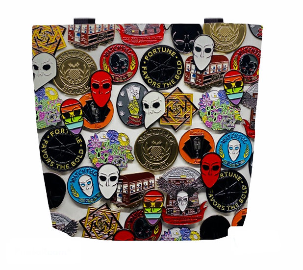 SNM Pin Collage Tote
