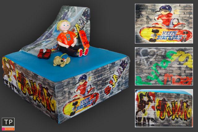 skate taart Tante Pollewop creëert Zoete Kunst | Wix.com skate taart