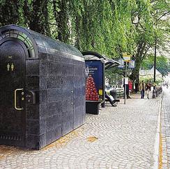 Public restroom in Stockholm, Sweden