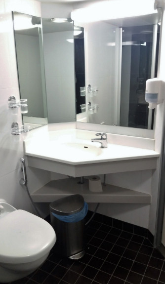 Toilet on a ship
