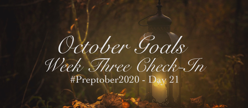October Goals: Week Three Check-In
