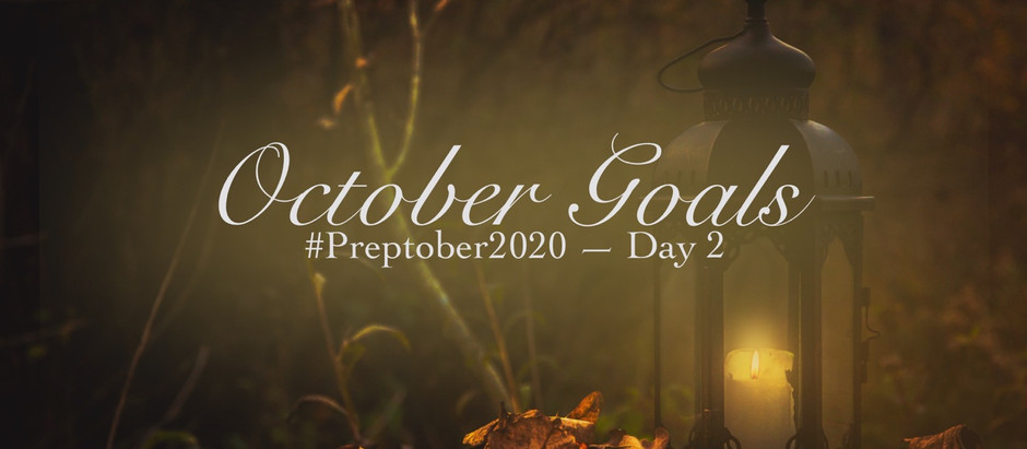 Plan With Me: October Goals