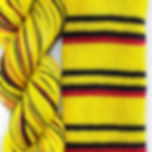 Pika Pika skein and swatch.jpg