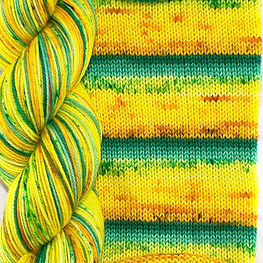 Party Like a pineapple skein and swatch.