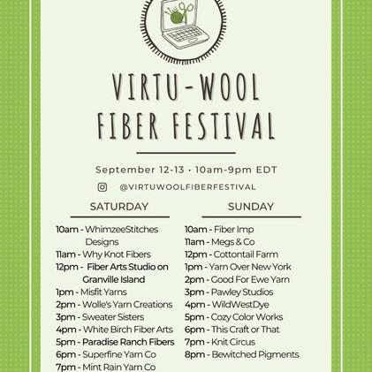 September Virtu-Wool Fiber Festival