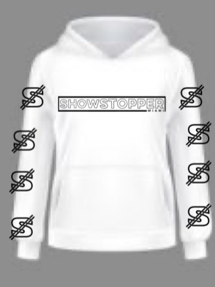 White Show Stopper Hoodie