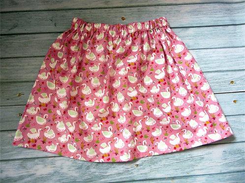 Swan skirt with elasticated waistband