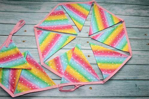 Rainbow stripes bunting
