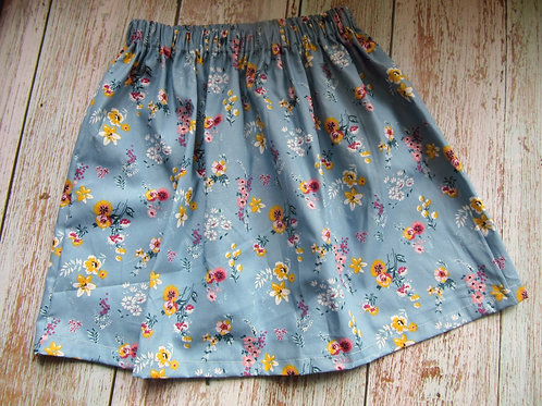 Floral skirt with elasticated waist 100% From