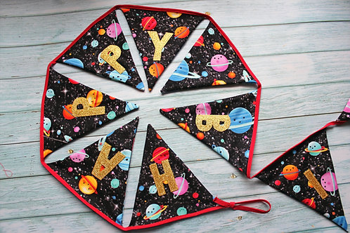 Personalised Planets bunting