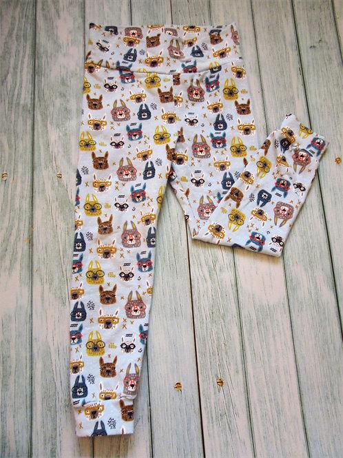 'Cool glasses' leggings with fabric waistband. Oeko-tex certified.